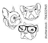french bulldog. vector...   Shutterstock .eps vector #706322965