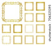 various set of square border... | Shutterstock .eps vector #706325395