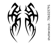 tribal tattoo art designs.... | Shutterstock .eps vector #706325791