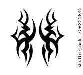 tribal tattoo art designs.... | Shutterstock .eps vector #706325845