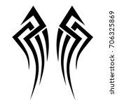 tattoo tribal vector design.... | Shutterstock .eps vector #706325869