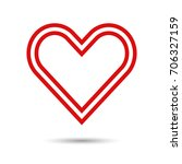 heart icon. vector illustration | Shutterstock .eps vector #706327159