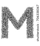 3d render of silver or grey... | Shutterstock . vector #706338367