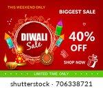 diwali festival sale  sticker ... | Shutterstock .eps vector #706338721