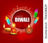 diwali festival sale  sticker ... | Shutterstock .eps vector #706338829