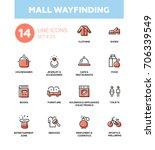 mall wayfinding   modern vector ... | Shutterstock .eps vector #706339549