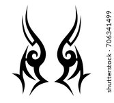 tribal tattoo art designs.... | Shutterstock .eps vector #706341499