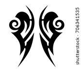 tribal tattoo art designs.... | Shutterstock .eps vector #706341535