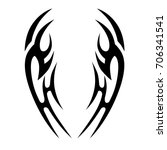 tribal tattoo art designs.... | Shutterstock .eps vector #706341541