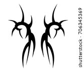 tribal tattoo art designs.... | Shutterstock .eps vector #706345369