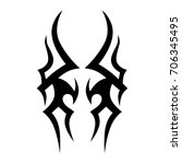 tribal tattoo art designs.... | Shutterstock .eps vector #706345495