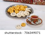 traditional iranian sweets... | Shutterstock . vector #706349071