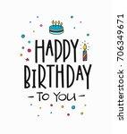 congratulations lettering sign... | Shutterstock .eps vector #706349671