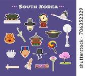travel to south korea vector