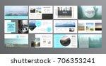original presentation templates.... | Shutterstock .eps vector #706353241
