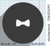 bow tie icon.   Shutterstock .eps vector #706353595