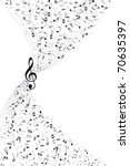 music notes background | Shutterstock .eps vector #70635397