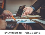 business people meeting at... | Shutterstock . vector #706361041