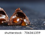 original chocolate praline... | Shutterstock . vector #706361359