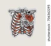 tattoo anatomy vintage... | Shutterstock .eps vector #706362295