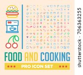 food and cooking pro icon set | Shutterstock .eps vector #706363255