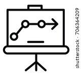 graph presentation vector icon   Shutterstock .eps vector #706364209