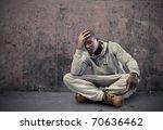 Young Sad African Man