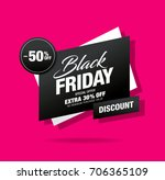 black friday sale banner | Shutterstock .eps vector #706365109