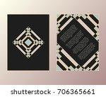 vector cards. art deco style.... | Shutterstock .eps vector #706365661