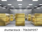 3d Rendering Heap Of Gold...