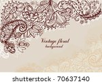 vintage floral background | Shutterstock .eps vector #70637140