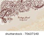 vintage floral background   Shutterstock .eps vector #70637140