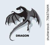 flying dragon. mythical animal. ... | Shutterstock .eps vector #706376644