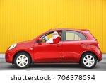 Authentic Santa Claus Driving...