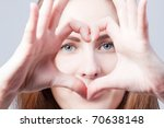heart from fingers | Shutterstock . vector #70638148