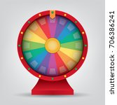 colorful wheel of chance... | Shutterstock .eps vector #706386241