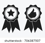 a sign of premium class. medal... | Shutterstock .eps vector #706387507