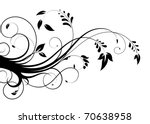Stock vector abstract floral pattern 70638958