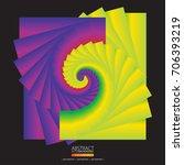 colourful swirl on dark... | Shutterstock .eps vector #706393219