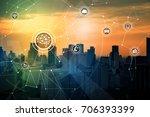 ai  artificial intelligence ... | Shutterstock . vector #706393399