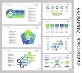 seven marketing charts slide... | Shutterstock .eps vector #706398799