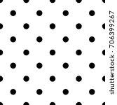 polka dot bold vector seamless... | Shutterstock .eps vector #706399267