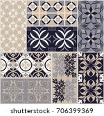seamless ceramic tile with... | Shutterstock .eps vector #706399369