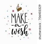 congratulations make wish... | Shutterstock .eps vector #706403329