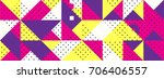simple banner of decorative... | Shutterstock .eps vector #706406557