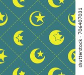 seamless pattern with symbol of ... | Shutterstock .eps vector #706407031
