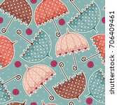 seamless pattern with umbrellas....