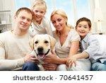 portrait of a happy family... | Shutterstock . vector #70641457