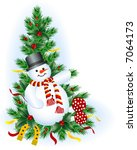 Snowman  Holly  Horseshoe And...