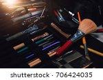 make up set  professional... | Shutterstock . vector #706424035